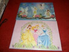 Two Heavy duty girl's table mats (59*39 cm each). Princess and Fairies.