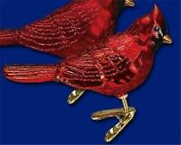 SHINY FINISH NORTHERN CARDINAL OLD WORLD CHRISTMAS GLASS BIRD ORNAMENT NWT 18044