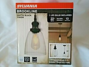Sylvania Brookline NEW Vintage Glass Ceiling Mount Light Fixture Bulb Included