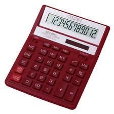 Citizen SDC-888XRD Bureau Calculatrice Solaire/Batterie Dual-Alimenté à 12 chiffres rouge