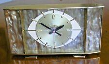 Mid-Century Metamec Brass, Perspex and Glass Mantle EYE Clock - Kienzle Movement