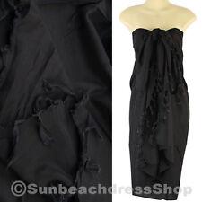 Hawaii Luau Pool Cruise Black Sarong Pareo Cover-up Beach Wrap sa084d bid