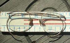 Genuine granny glasses, gold filigree bifocals, very old
