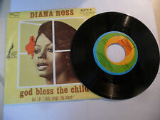 "DIANA ROSS""GOD BLESS THE CHILD- disco 45 giri TAMLA Italy 1973"" PERFETTO"