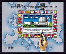 HUNGARY - 1985 - Helsinki Agreement, 10th anniversary - MNH Sheet - Scott #2945
