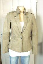 Suit 412 BY OAKWOOD veste blazer veste en cuir nappa cuir couleur taupe taille L 40 (w142)