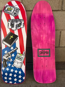 Jason Lee American Icons Pink Stain Shaped 1991 Signed Skateboard
