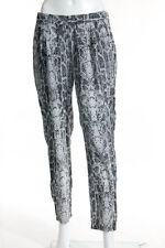 Equipment Femme White Silk Snakeskin Print Skinny Leg Pant Size Extra Small
