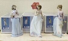 Lladro  Afternoon Promenade and  Basket of Love and  Innocence in Bloom