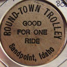 1983 Round-Town Trolley Sandpoint, ID Transit Token - Idaho Ida.