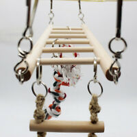 Parrot Bird Rat Hamster Cage Swing Play Toy Hanging Rope Climbing Buckles Ladder