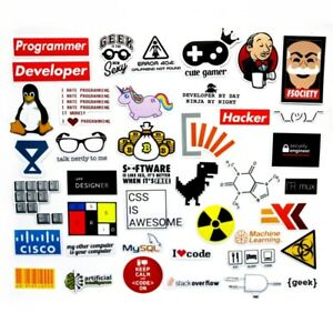 40 Pcs Waterproof Funny Sticker Developer Gamer Hacker programmer PC Decoration
