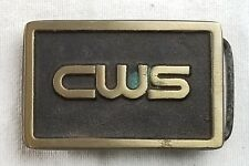 Vintage CWS bronze belt buckle rainbow metals rare