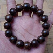 14 MM Natural Indonesia Kalimasada Bracelet Kou Wood 16 Beads