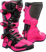 Fox Youth Comp 5 Boots Black/Pink 2019 Size 5 Motocross ATV Offroad-16449-285-5