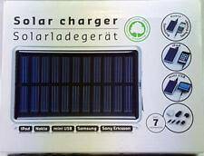 Solarladegerät, Solar charger für iPod, Nokia, Samsung,  Ericson, MP3 MP4 Min...