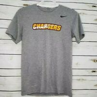Los Angeles Chargers Nike Mens T-Shirt Gray Heathered Dri Fit Crew Neck Tee S