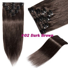 Deluxe AAA Real Clip In 100% Remy Human Hair Extensions Full Head 8pcs Weft B143