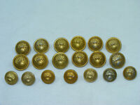 Lot de 19 boutons GRENADE FLAMME G.J.F. Paris 17mm 21mm Gendarmerie Armée Soldat