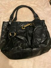 juicy couture bag, Large, Black Soft Leather Used