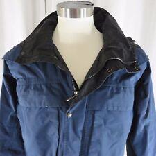 Vtg 90s North Face GoreTex M Navy Blue Black Jacket Parka Made In USA