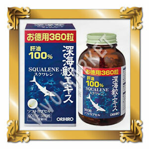 Japan Supplement ORIHIRO Deep Sea Shark SQUALENE 360capsules 60days