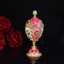 Beautiful luxury Faberge inspired egg trinket box metal home decor