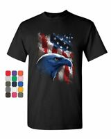 American Bald Eagle T-Shirt American Flag 4th of July Patriotic Mens Tee Shirt