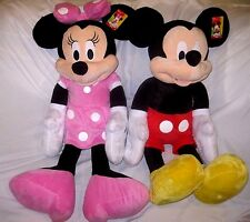 """Disney Mickey Mouse + Minnie Mouse 36"""" Soft Plush Combo-Licensed Product-NEW!"""