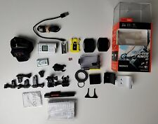 Sony HDR-AS100VR POV Action Video Camera with Live View Remote (White) + Extras!