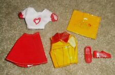 """BARBIE DOLL CLOTHES - 11"""" TEEN SKIPPER RED SKIRT, WHITE TOP, VEST, SHOES, PURSE"""