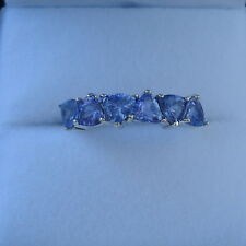 1.34ct Certified Trillion Tanzanite Gold Band Ring
