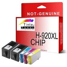 5 Tintas Non-Oem HP 920xl con chip OfficeJet 6000 6500-a 7000 7500-a e710a e710n