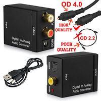 Digital COAX OPTICAL SPDIF Toslink to Analog RCA L/R Audio Adapter DAC Converter