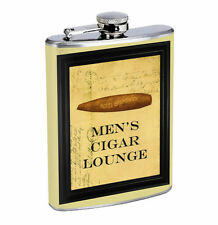 Flask Men's Cigar Lounge 01R 8oz Stainless Steel Hip Drinking Whiskey