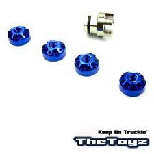 1/16 1/10 HPI Tamiya 4mm Aluminum Serrated Wheel Lock Nuts TOYZ 404 Blue.