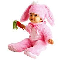 Easter Bunny Rabbit Costume Pink Wabbit Romper Toddler Child Baby Girl w Rattle