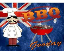 Australian BBQ sign. BBQ . Australia Flag Sign Kitchen Sign, Pub Cafe Sign