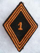 Losange tissu modèle 1945 patch 1° RCP CHASSEURS PARACHUTISTES 3 soutaches