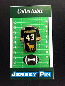 Pittsburgh Steelers Troy Polamalu jersey lapel pin-Gridiron GOAT-HOF 2020