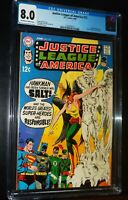 JUSTICE LEAGUE of AMERICA #72 1969 D.C. DC Comics CGC 8.0 VF