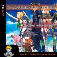 Sword Art Online: Hollow Realization(PS4 Mod)-Max Money/Stats/SP/Level/EXP
