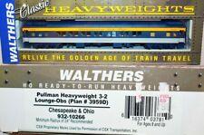 C&O  Pullman Heavyweight 3-2 Lounge Obs Walthers 932-10266 HO Scale JY10.23