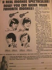 The Monkees, Tatus, Full Page Promotional Print Ad