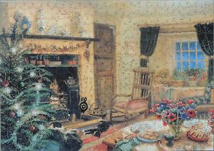 "Wentworth 500 Piece Wooden Jigsaw Puzzle. ""Christmas Tea""-Stephen Darbishire"