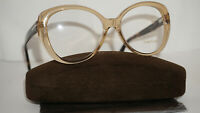 TOM FORD RX Eyeglasses New Clear Brown Havana Butterfly TF5492 045 56 16 140