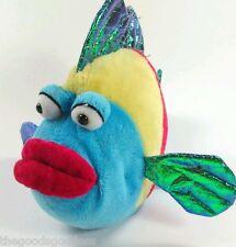 GANZ Webkinz Pucker Fish Plush Stuffed animal Shiny tail red lips buggy eyes