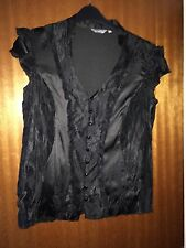 PER UNA - GORGEOUS BROWN SATIN TOP - SIZE 12 - WORN ONCE