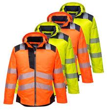 PORTWEST PW3 Hi Vis Winter Jacket Waterproof Reflective Safety Workwear T400
