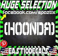 Hoonda Honda Windshield Decal vinyl sticker si s2000 crx JDM civic Hoon hoonigan
